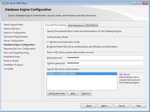 sql9c - Langkah-Langkah Instalasi Sql Server 2008