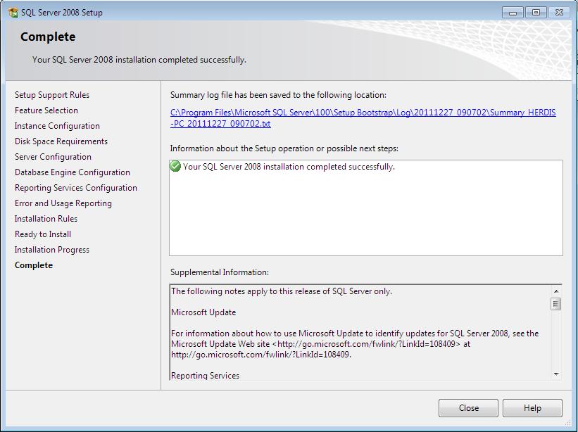 sql9i - Langkah-Langkah Instalasi Sql Server 2008