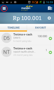 home mandiri e-cash