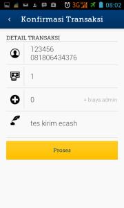 konfirmasi transaksi e-cash