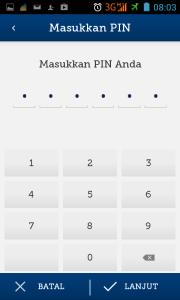 masukan pin e-cash
