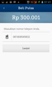 No Handphone Tujuan Beli Pulsa