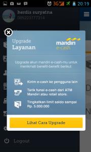 upgrade layanan mandiri e-cash