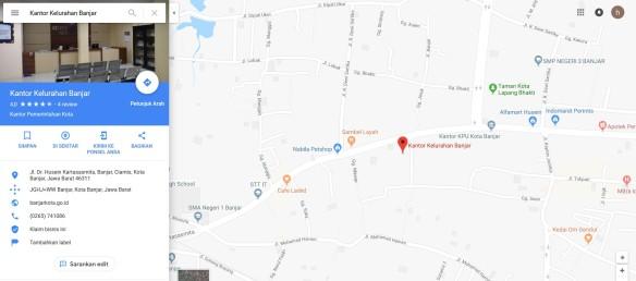 alamat kantor kelurahan banjar